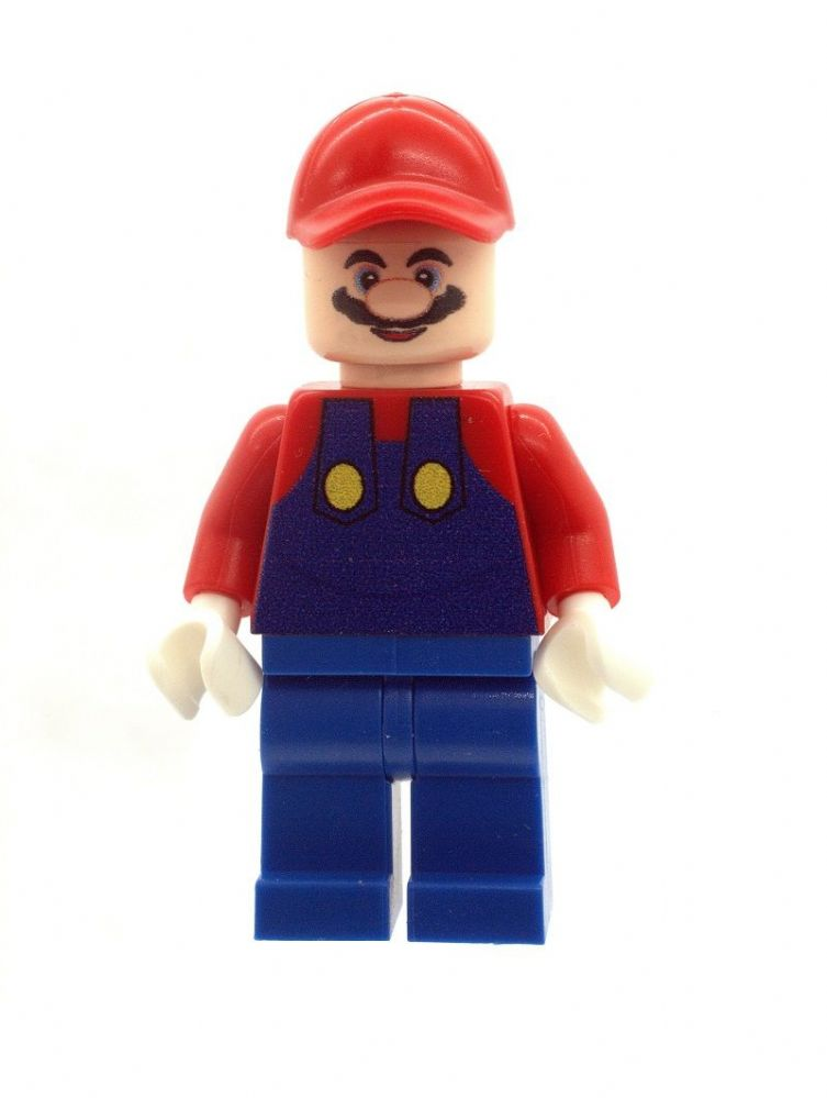 Mario from Super Mario Brothers - Custom Designed Minifigure